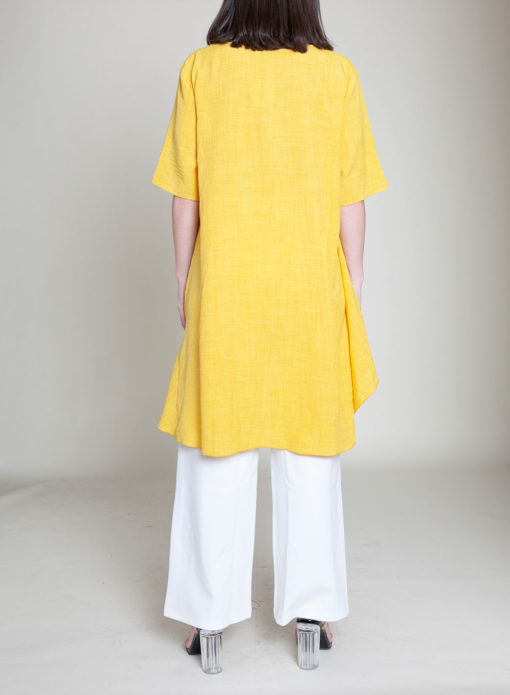 YELLOW TUNIC TOP- BACK