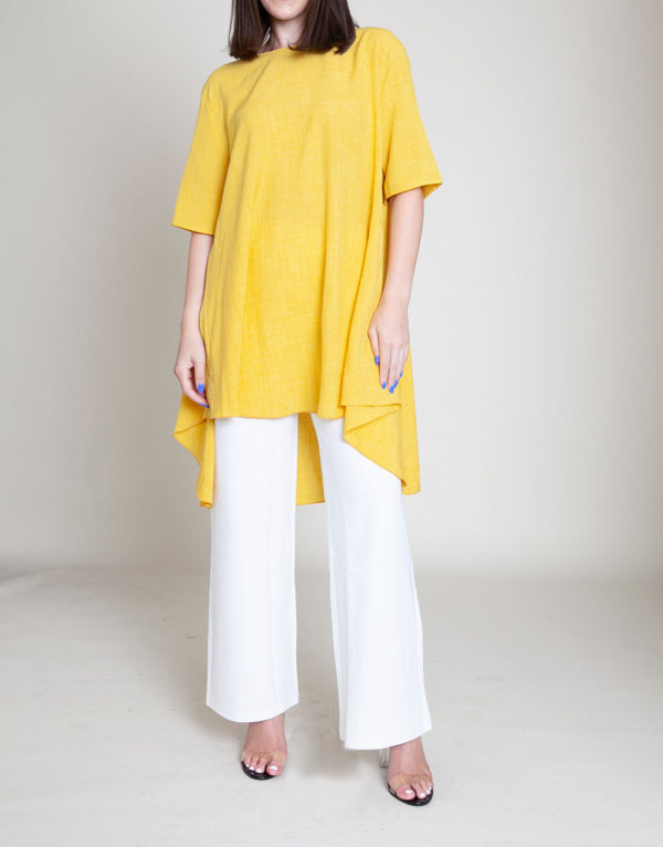 YELLOW TUNIC TOP- FRONT
