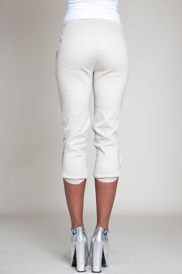 cropped khaki snap pants- back