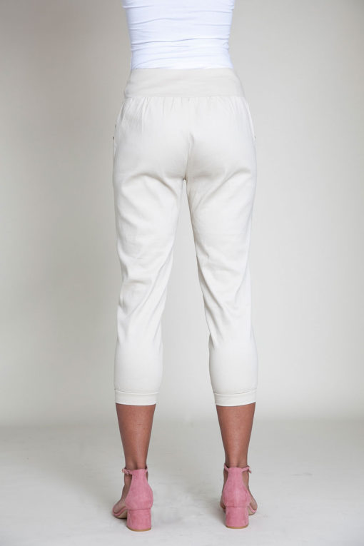 button side khaki pants- back