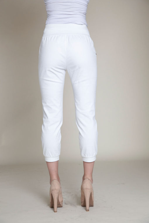 button side white pants- back