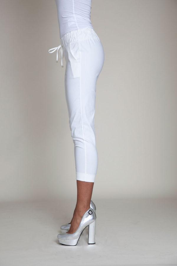white drawstring crop pants- side