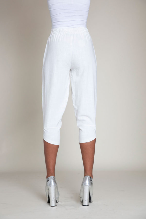 white linen pants- back