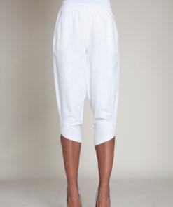 white linen pants- front