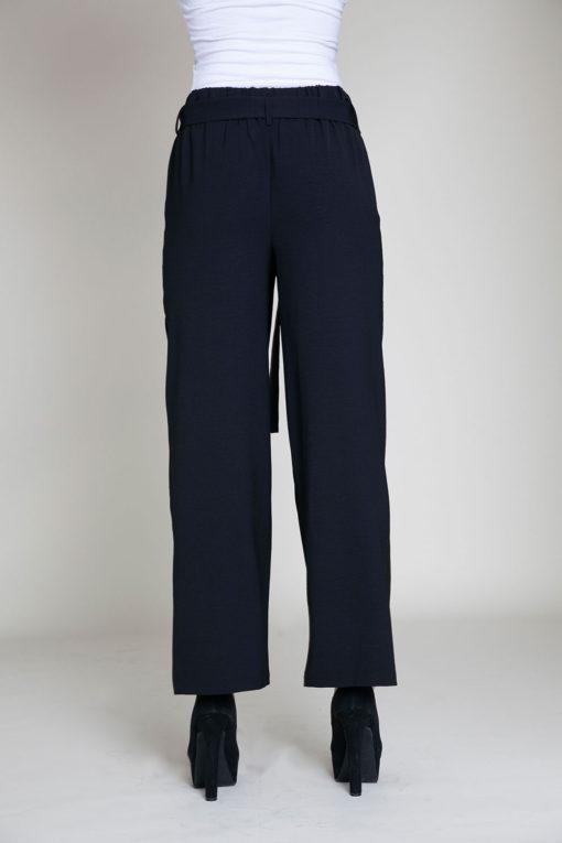 black paperbag waist pants- back