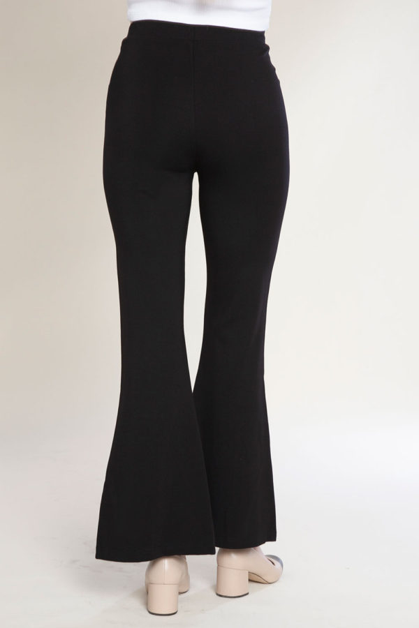 slit front stud pants- back