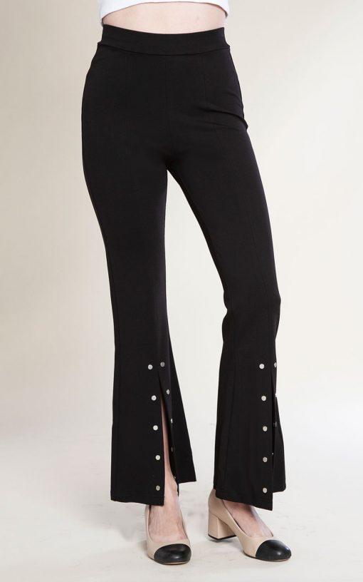 split front stud pants- front