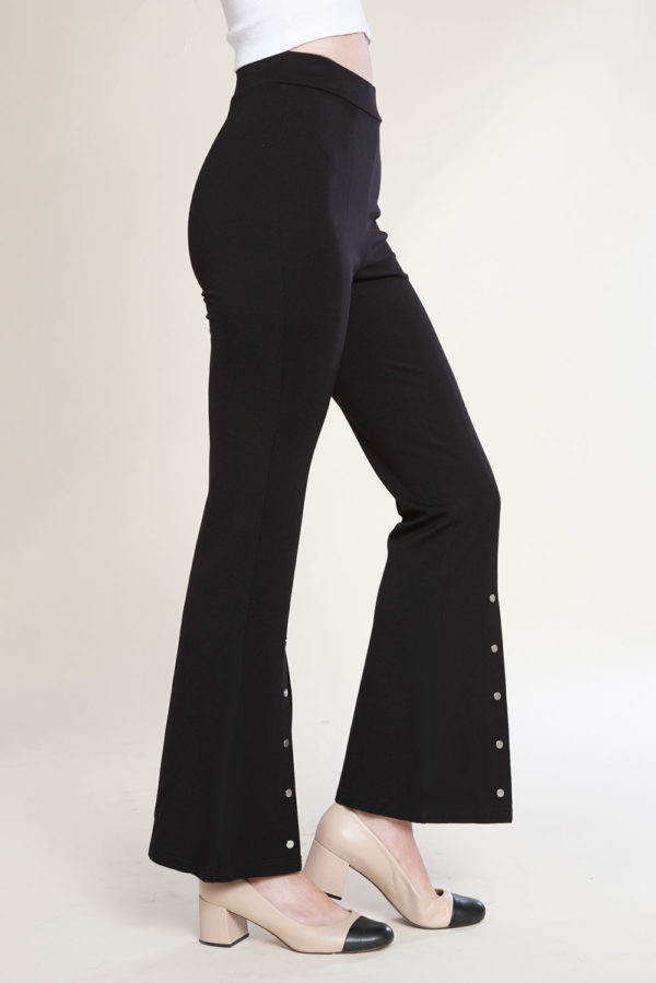 split front stud pants- side