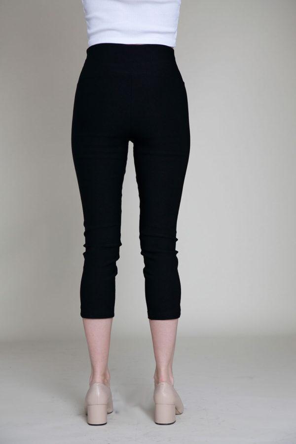 black cropped pants- back