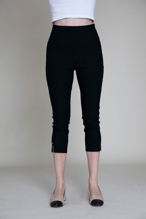black cropped pants- front