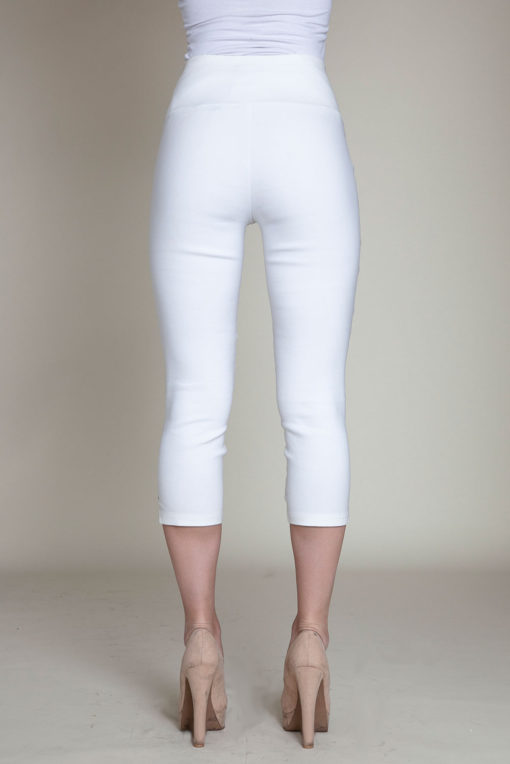 white cropped pants- back