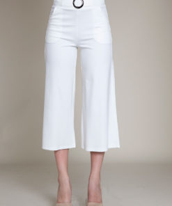 WHITE BELTED CULOTTES- FRONT