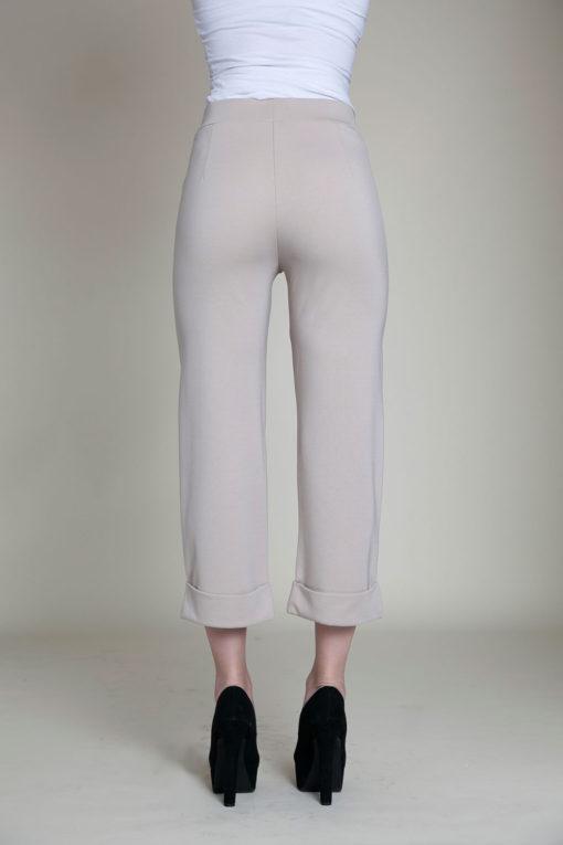cropped foldover khaki pants- back