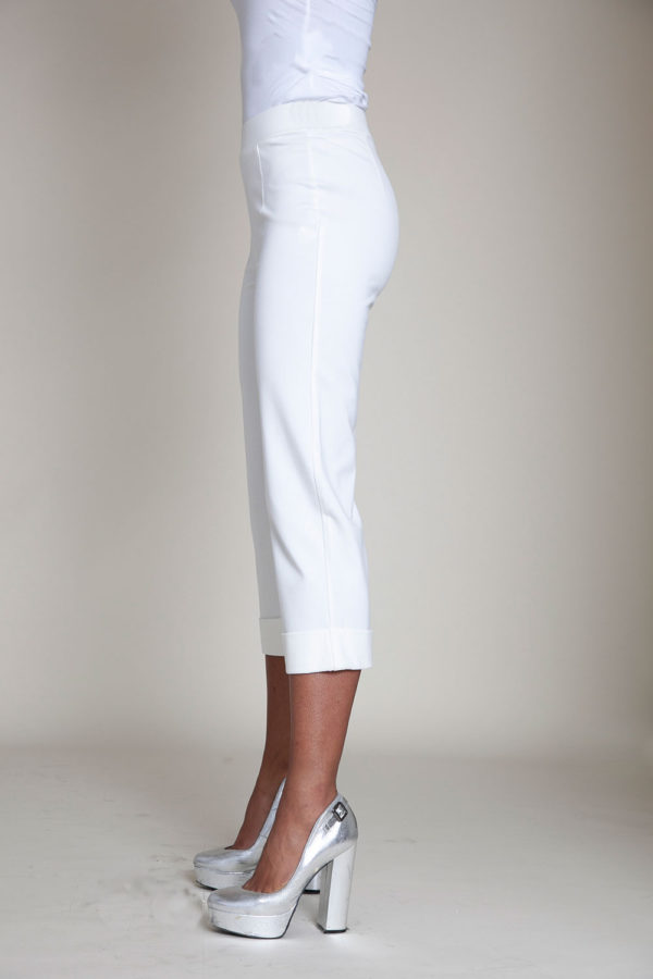 cropped foldover white pants- side