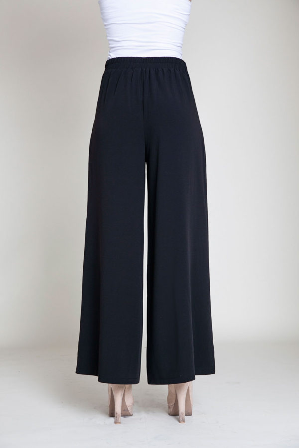 black wide leg pants- back