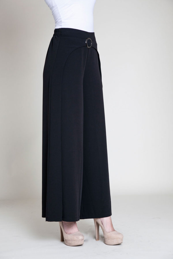black wide leg pants- side