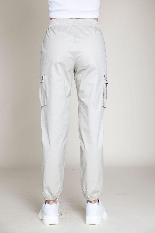 khaki cargo pants- back
