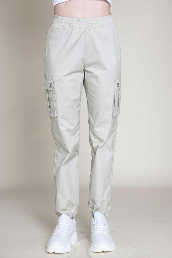 khaki cargo pants- front