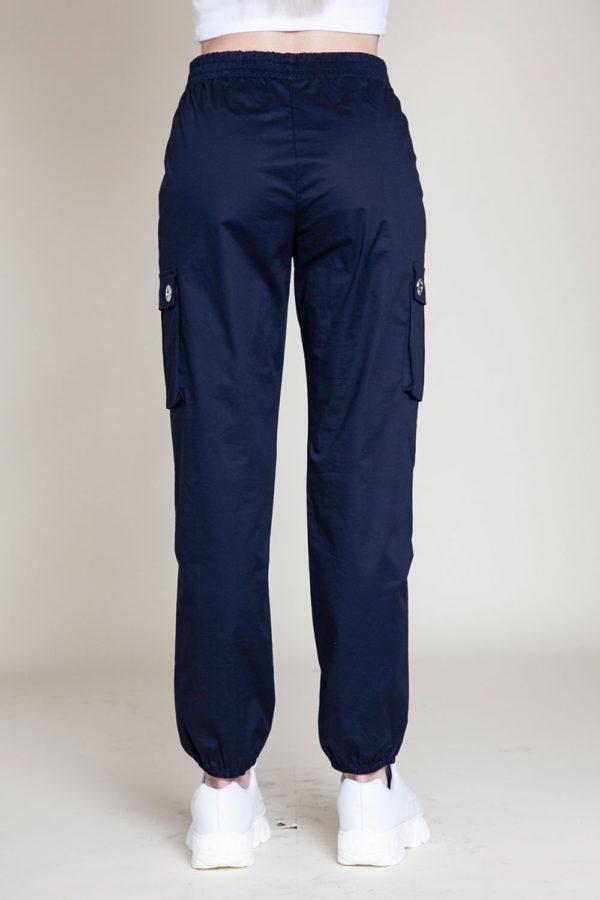 navy cargo pants- back