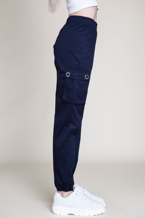 navy cargo pants- side