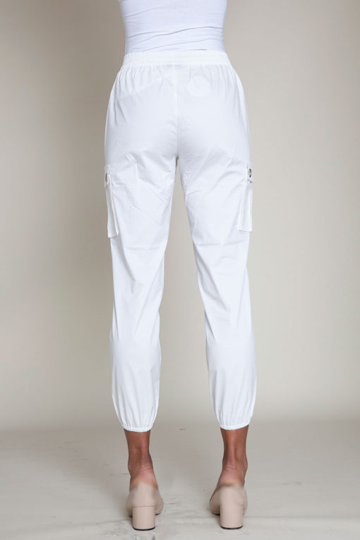 white cargo pants- back