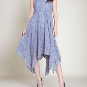 grey lace dress- front