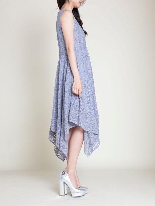 grey lace dress- side