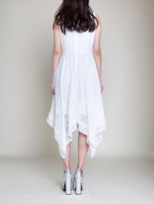 white lace dress- back