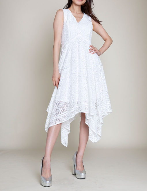 white lace dress- front