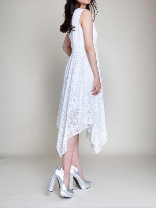 white lace dress- side