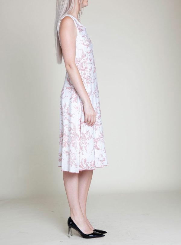 pink printed dress- side
