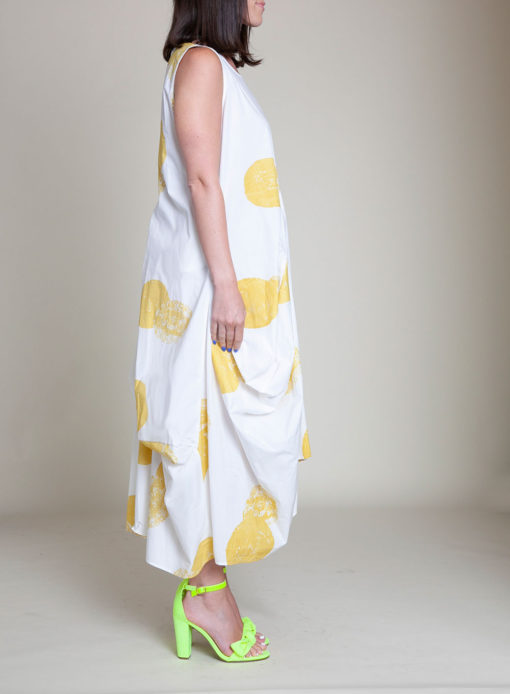 yellow printed dress- side