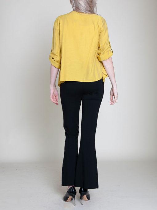 mustard yellow jacket- back