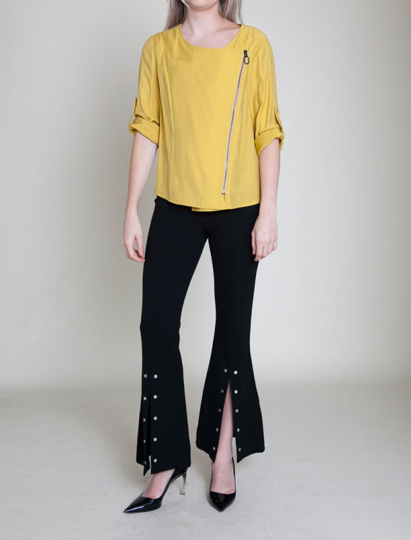 mustard yellow jacket- front