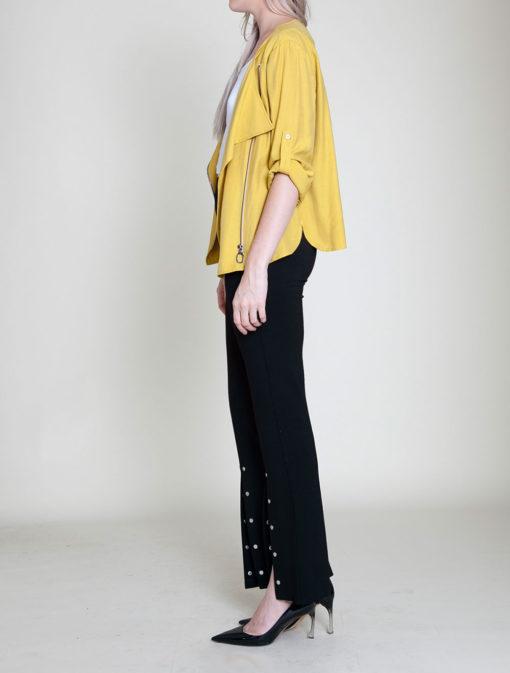 mustard yellow jacket- side