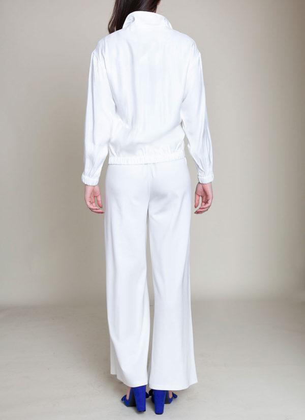 white collared jacket- back