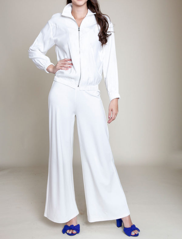 white collared jacket- front