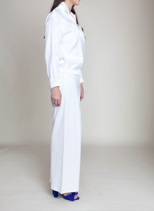 white collared jacket- side