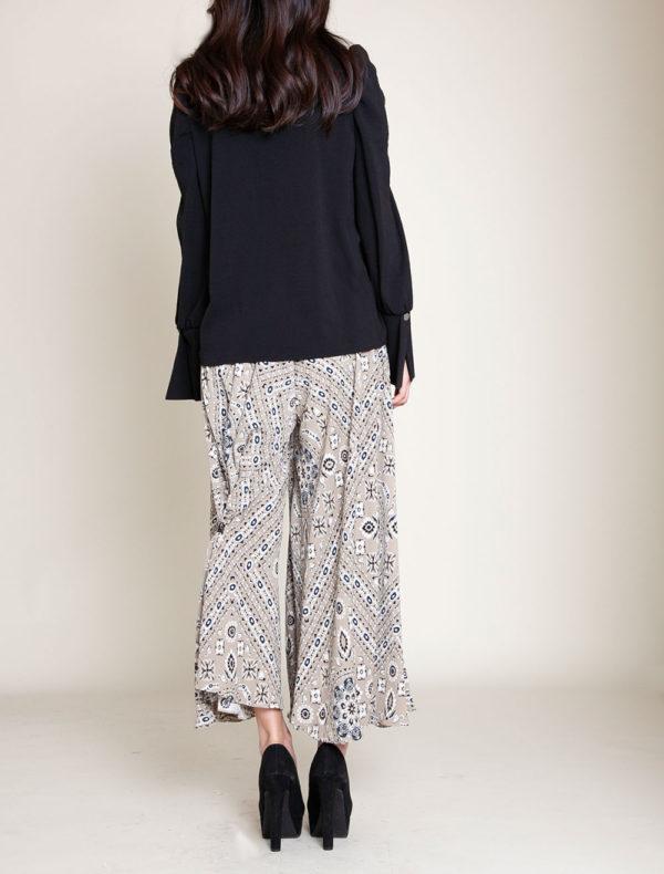 paisley khaki pants- back