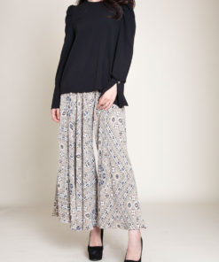 paisley khaki pants- front