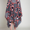abstract printed polka dot black and red skirt- front