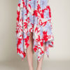 red floral print skirt- front