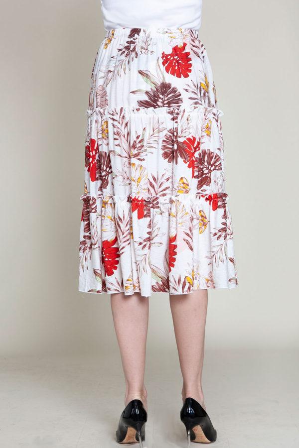 floral multi printed skirt- back