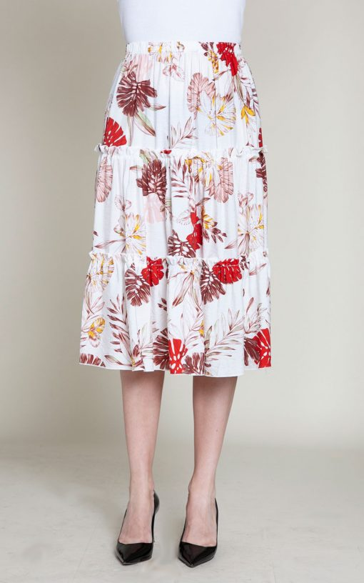 floral multi printed skirt- front