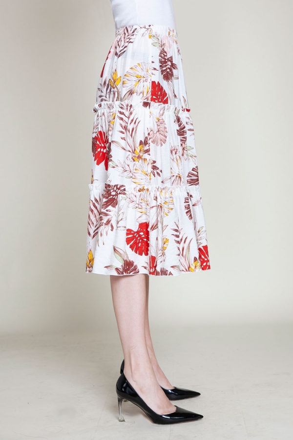 floral multi printed skirt- side