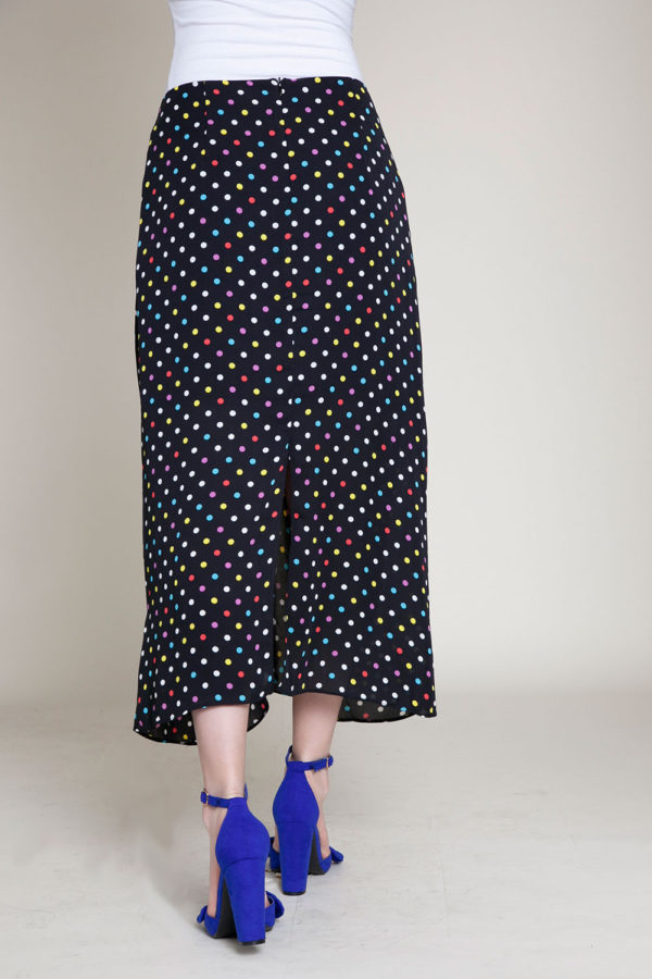 polka dot black skirt- back