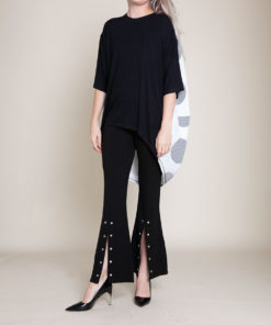 black and dot high low top- front