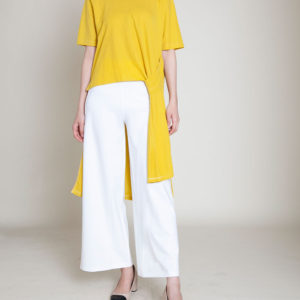 mustard yellow high low top- front