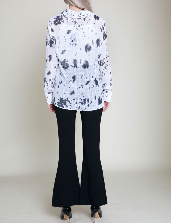 black printed blouse- back