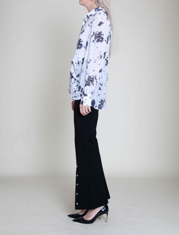 black printed blouse- side
